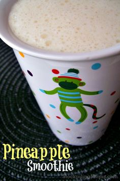 Pineapple Smoothie  http://www.stockpilingmoms.com/2013/03/pineapple-smoothie/