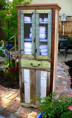 Reclaimed Wood Furniture - Cabinet - Handcrafted - Shabby - French Country Chic Decor. 950.00, via Etsy.