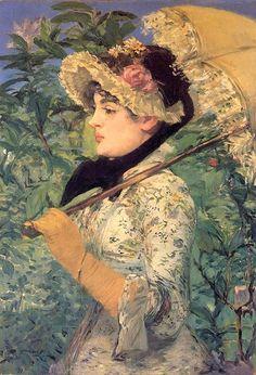 Édouard Manet - Spring (Jeanne Demarsy), 1881