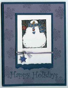 holiday woodcuts snowman