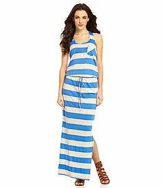 C and C California Striped Racerback Maxi Dress #Dillards