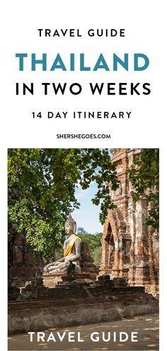 The ultimate 14 day thailand itinerary covering Bangkok, Chiang Mai, Ayutthaya, Sukhothai, Ko Samui and Ko Tao - a complete guide across Land and Sea
