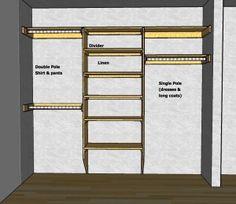 Master Closet Designs Layout Wardrobes 58 Ideas For 2019 Reach In Closet, Walk In Closet Design, Closet Designs, Wardrobe Design, Design De Configuration, Layout Design, Design Ideas, Placard Simple, Organiser Son Dressing