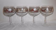 Friendly Village Water Wine Goblets Set Of 4 Johnson Brothers  #johnsonBrothers