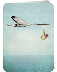 Stork - Santoro's Eclectic Cards