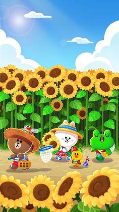 Line Friends Wallpaper Lines Wallpaper, Bear Wallpaper, Kawaii Wallpaper, Galaxy Wallpaper, Iphone Wallpaper, Cute Kawaii Drawings, Kawaii Art, Cony Brown, Brown Bear