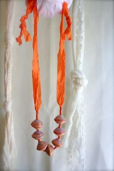 Ribbon and paper beads