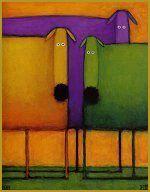The Tale of the Purple Dog by Daniel Patrick Kessler Daniel Patrick, Dog Ornaments, All Things Purple, Fun Prints, Bird Art, Faeries, Artsy Fartsy, Art For Kids, Whimsical