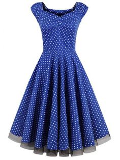 GET $50 NOW | Join RoseGal: Get YOUR $50 NOW!http://www.rosegal.com/vintage-dresses/polka-dot-lace-insert-swing-910643.html?seid=5505597rg910643