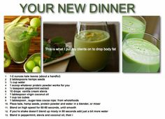 Your new dinner smoothie / FB Stephanie Person Skater