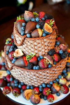 basket cake with strawberries! A twist on an old idea!