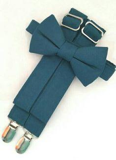 Dark Teal Suspenders and Dark Teal Bow tie. Slowly known as Bridal Color Peacock. Free Fabric Sample Available. Green Suspenders, Groomsmen Suspenders, Groom And Groomsmen, Free Fabric Samples, Free Fabric Swatches, Color Swatches, Dark Teal, Teal Green