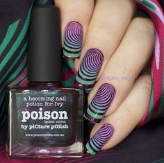 piCture pOlish = Nina wearing 'Poison, Scandal + Gloss on Top!' WOWZA thank you :) www.picturepolish.com.au