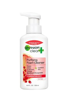 Broke-Girl Beauty: 27 Bargain Buys To Try #refinery29 |  Garnier Clean+ Purifying Foam Cleanser , $5.99, available at Target.