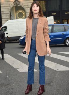 Jeanne Damas bei der Fashion Week in Paris