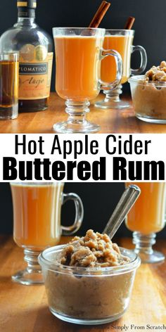 Rum Recipes, Alcohol Drink Recipes, Hot Drinks With Alcohol, Rum Cocktail Recipes, Apple Recipes, Fall Recipes, Thanksgiving Drinks, Christmas Drinks, Fall Drinks