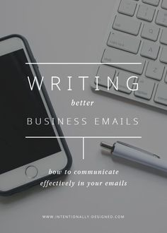 Writing better business emails — In an age where everything is digital, sending emails is a large part of our work day. It's how we communicate with others within our business or company as well as how we contact others outside of our work too.