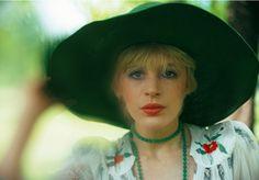 Marianne Faithfull in Hyde Park London, 1975(by Torbjörn Calvero)