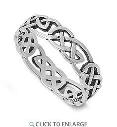 Sterling Silver Celtic Pattern Ring