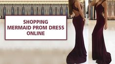 Sexy Long Mermaid V-neck Open Back Burgundy Prom Dress with Appliques La...