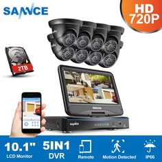 6cbda29f325 SANNCE 8CH 1080N DVR LCD Monitor 1500TVL Outdoor IR Home Security Camera  System