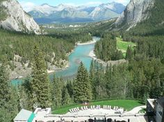 view from room in Fairmont Banff Springs hotel