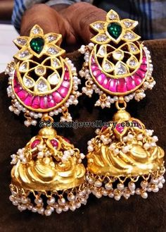 Indian Jewellery Designs - Latest Indian Jewellery Designs 2020 ~ 22 Carat Gold Jewellery one gram gold Indian Jewelry Sets, Indian Wedding Jewelry, Indian Jewellery Design, India Jewelry, Gold Jewelry, Jewelry Design, Ear Jewelry, Bridal Jewellery, Fashion Jewellery