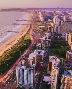 """""""The Durban beach front looking lekker. Photo by Durban South Africa, Kwazulu Natal, Ocean Life, Live, Strand, San Francisco Skyline, Places To Travel, Beach"""