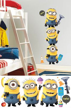 Despicable Me 2 Minions Giant Peel and Stick Giant Wall Decals Wall Decal at AllPosters.com