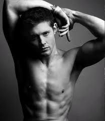 Jensen Ackles...It's okay that I have half naked men on my board, right?  I mean I love my husband, but DANG