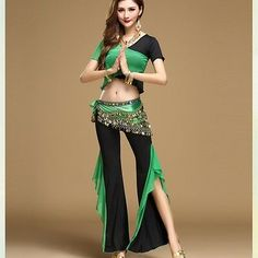 Siamese blouse with Pants 3 pcs set Belly Dance Yoga practice clothing Costume   eBay Belly Dance Scarf, Belly Dance Costumes, Dance Dresses, Brand New, Yoga, Siamese, Blouse, Womens Fashion, Pants