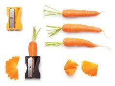 Un #sacapuntas para #zanahorias! Original desde luego es... y ademas te sirve para decorar ;) #gadgets #cocina #comida #paratorpes #gastro #gastronomia #hortalizas #ingredientes