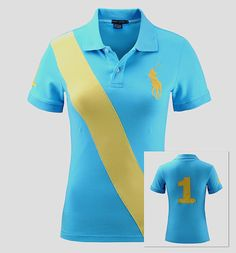 polo ralph lauren discount Ralph Lauren Women's Big Pony Banner-Stripe Short Sleeve Polo Shirt Sky Blue http://www.poloshirtoutlet.us/