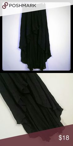 High low Black Skirt Love Culture high low black skirt, stretchy elastic waistband, size M. (Never worn) Love Culture Skirts High Low