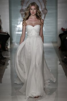 Reem Acra Bridal Spring 2015 [Photo by Thomas Iannaccone]