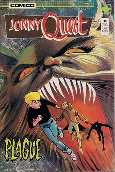 JONNY QUEST #16 Comico Comics Mark Wheatley William Messner-Loebs TV Cartoon Action Adventure