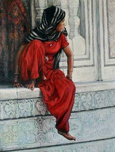 'Dreams at the Taj Mahal' Acrylic on canvas 224 x 302 x Taj Mahal, Paintings, Dreams, Canvas, Artwork, Artist, Anime, Tela, Work Of Art