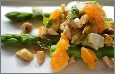 アスパラガスと半熟卵のサラダ