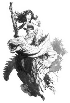 Mark Schultz sketch... is this Cadillacs and Dinosaurs? Loved that comic!