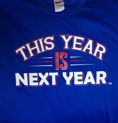 AWESOME & NEW!  This Year Is Next Year Now In BLUE!