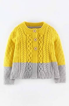 Mini Boden Cable Cardigan (Toddler Girls, Little Girls & Big Girls) available at #Nordstrom
