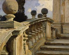 A Balustrade / John Singer Sargent / oil on canvas / the location pictured is in Rome