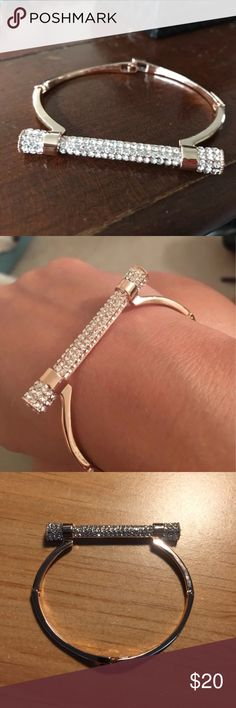 New Gold Bar Bracelet One Bracelet. Very cute and classy. Comes with box and free macaroon jewelry case. Lower prices and free shipping when ordering via my website https://diana-gavrilova.squarespace.com. If an item is not listed, leave a comment and I will add it for you. Jewelry Bracelets