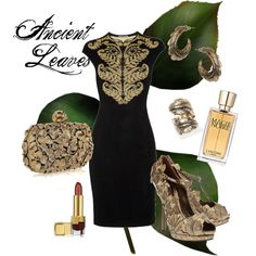 Ancient Leaves by silversilvia on Polyvore featuring moda, Alexander McQueen, Estée Lauder and Lancôme