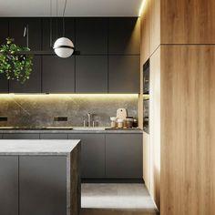Kitchen Room Design, Modern Kitchen Design, Kitchen Interior, Elegant Home Decor, Elegant Homes, Before After Kitchen, Cocinas Kitchen, Budget Home Decorating, Modern Kitchen Cabinets