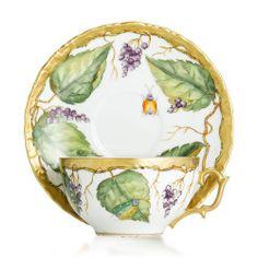 Anna Weatherly - Wildberry Lavender Tea Cup & Saucer
