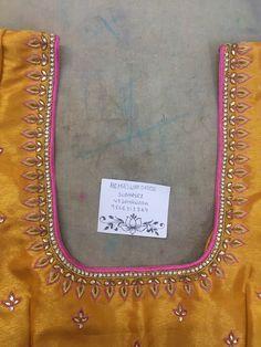 Best Blouse Designs, Simple Blouse Designs, Simple Embroidery Designs, Maggam Work Designs, Pattu Saree Blouse Designs, Hand Work Blouse Design, Kurta Neck Design, Bridal Mehndi Designs, Arya