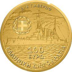 100 euro: Centennial of the Balkan Wars. Mintage year: Issue date: Face value: 100 euro. Euro Coins, Gold Money, Show Me The Money, Coin Collecting, Gold Coins, Precious Metals, Avro Arrow, Greece, Momento Mori