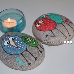 Stone Crafts, Rock Crafts, Arts And Crafts, Stone Painting, Rock Painting, Pet Rocks, Rock Design, Hand Painted Rocks, Posca