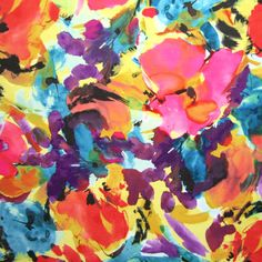 Watercolor floral spandex lycra swimwear fabric